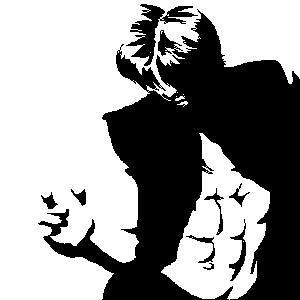 Kuroda's abs of steel. by ryuuenx