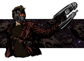 Star Lord AKA Peter Quill (Colored) by theclapboard55