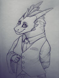 Dragon in a suit