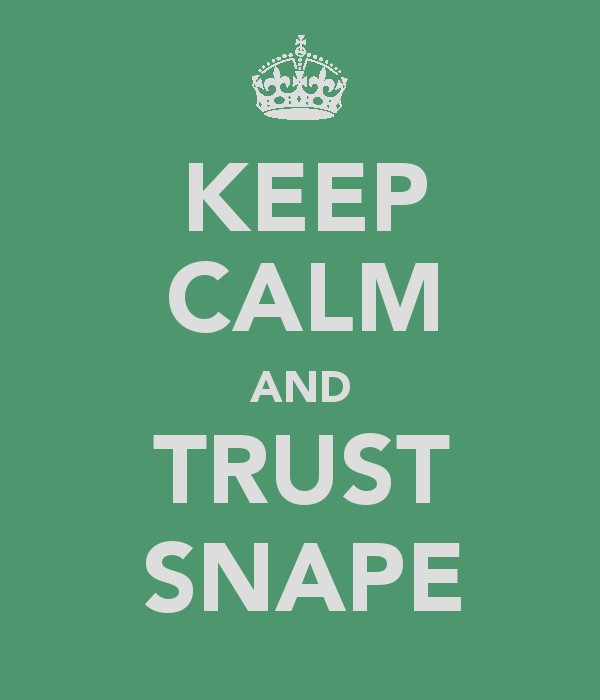 Keep Calm and Trust Snape by lancheney
