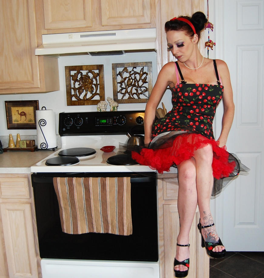 kitchen witch by lancheney photography people portraits pin up 2012