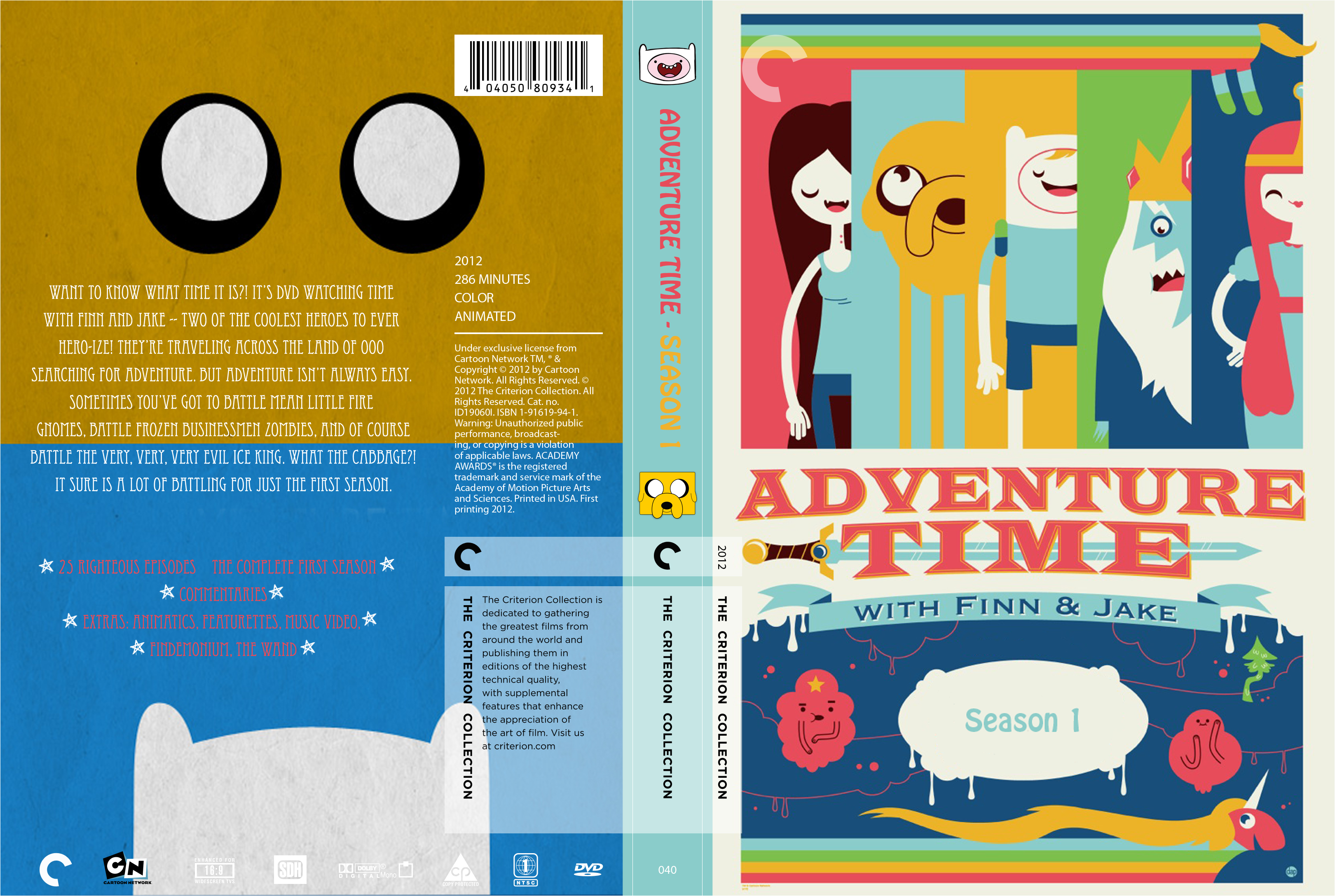 Criterion Cover - Adventure Time Season 1 by lancheney on
