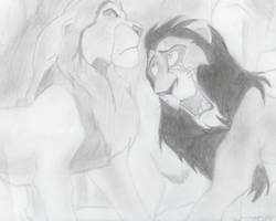 scar and mufasa by Whitelion67