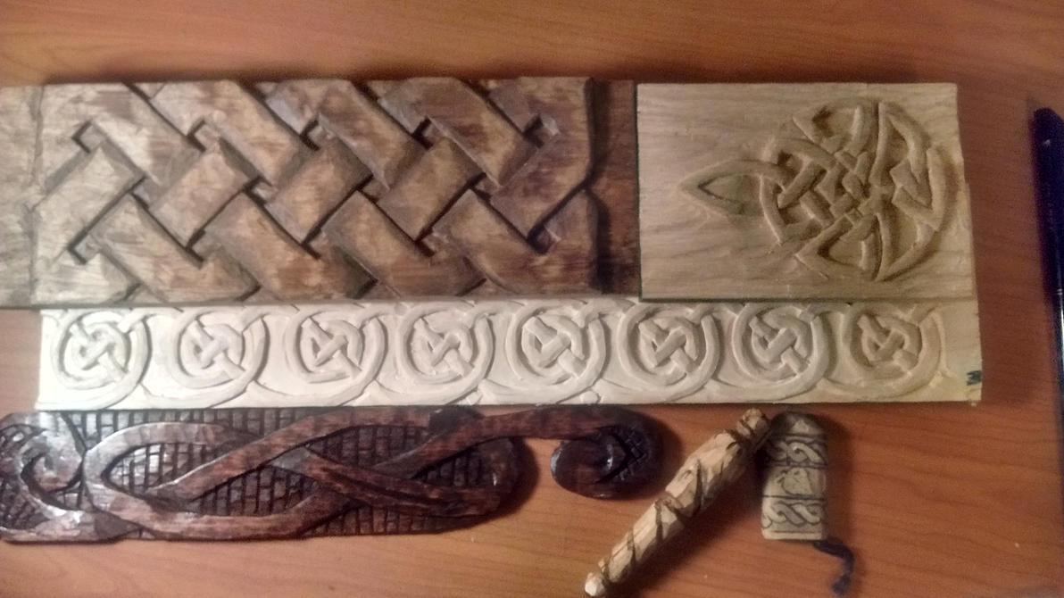 Celtic Wood Carving by TheSkilledCraftsman