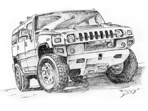H2 Hummer Coloring Pages: Hummer H2 By Judge-design On DeviantArt