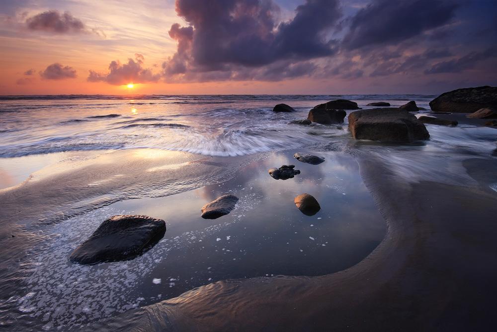 Tongaporutu Sunset by chrisgin