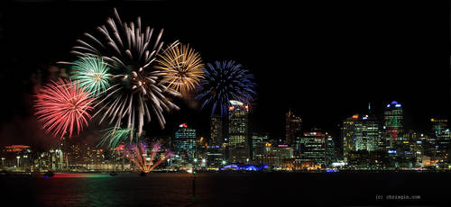 Auckland Fireworks by chrisgin