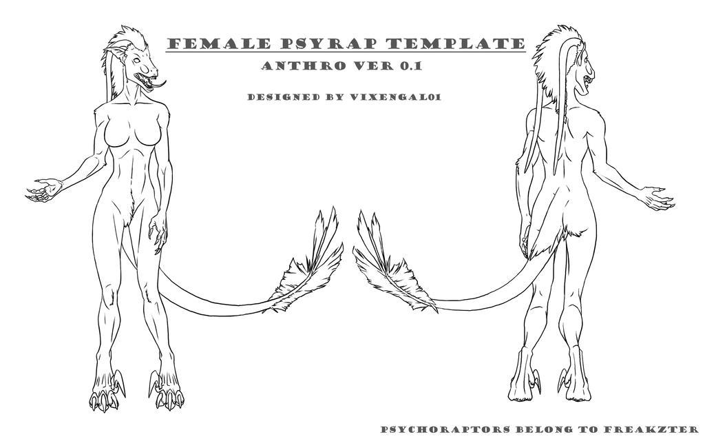 Female Psyrap Template by vixengal01
