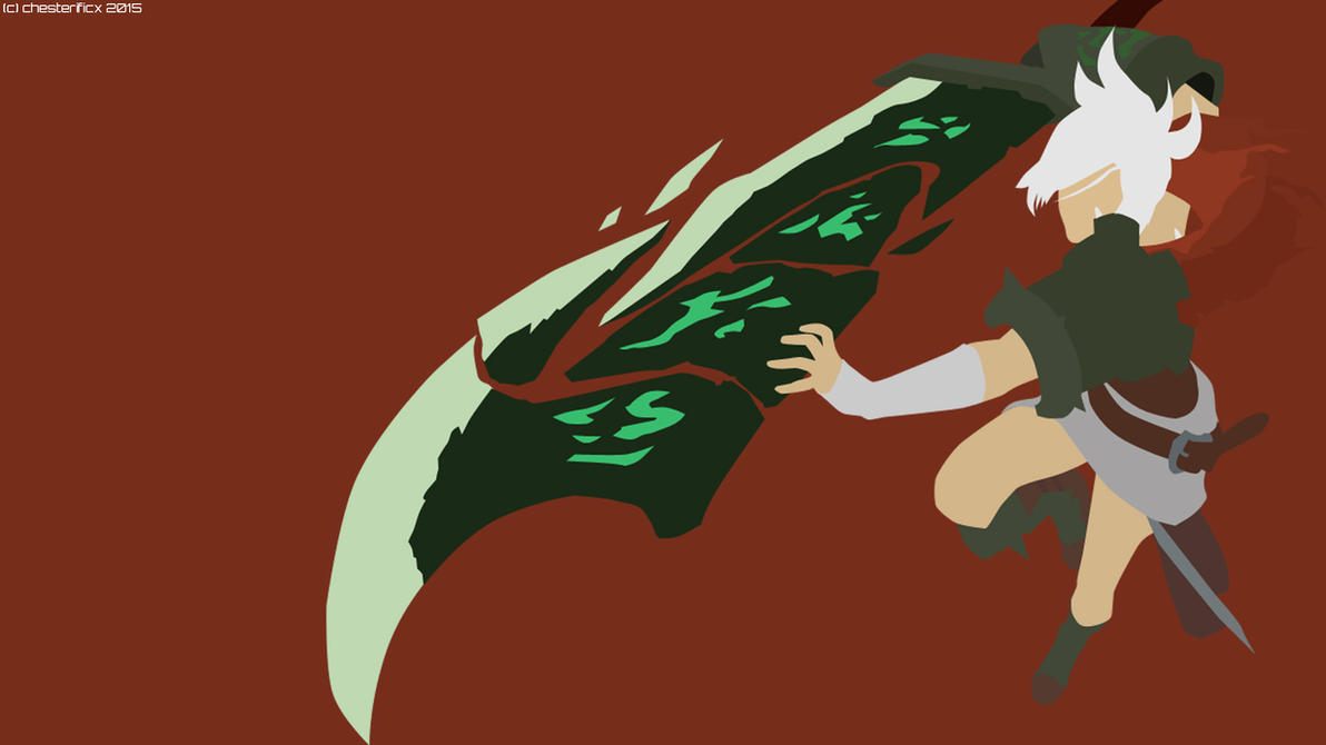 Kindred Minimalist Wallpaper League Of Legends By: Riven From League Of Legends By Chesterificx On DeviantArt