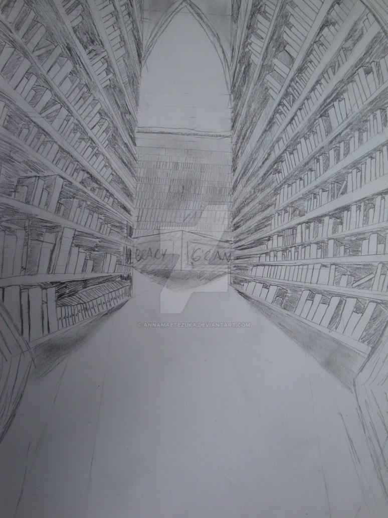 Peek Through the Library Door by AnnamaeTezuka