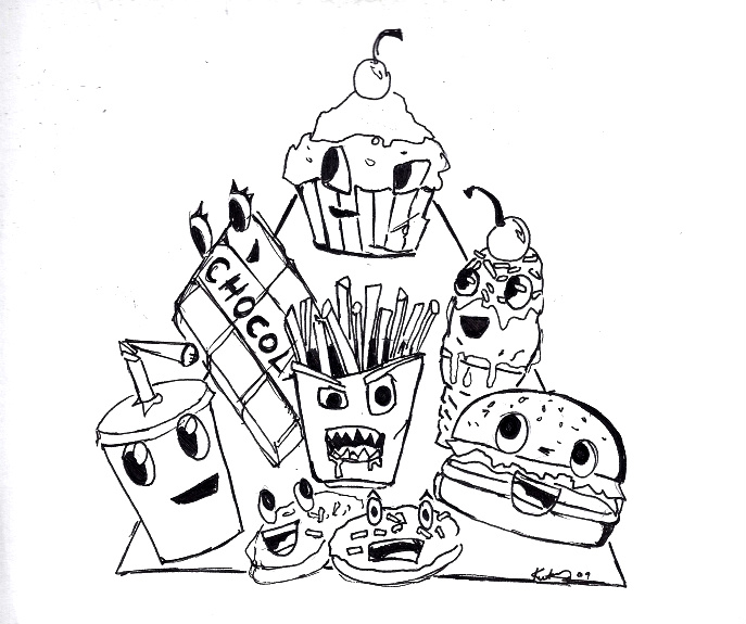 Line Drawing Food : Food pyramid line drawing by mrs rorschach on deviantart