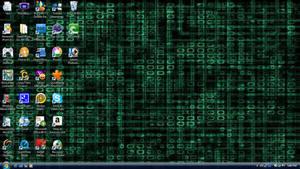 Slightly Matrix-y Desktop