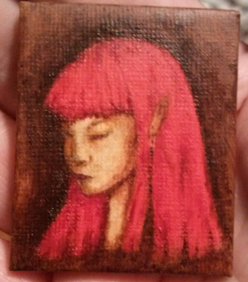 Miniature Elvish Girl (SOLD) by Orchid-Black