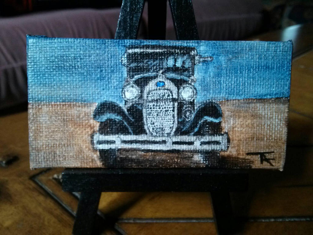 Model A Mini Painting (SOLD) by Orchid-Black
