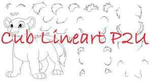 Cub Lineart (P2U)