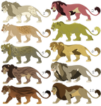 Lion Adoptables (Closed)
