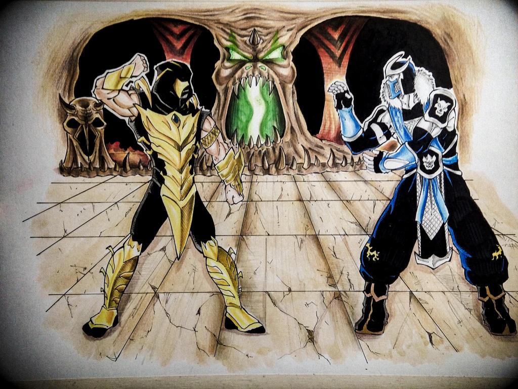 Scorpion vs. Sub-Zero by AnoZero