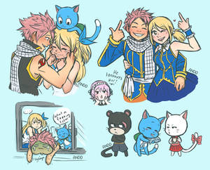 Fairy Tail doodles 1