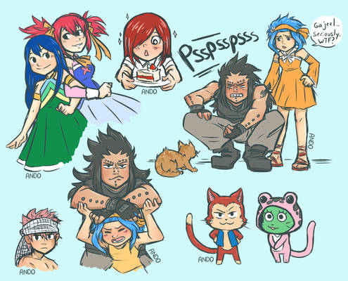 Fairy Tail doodles 2