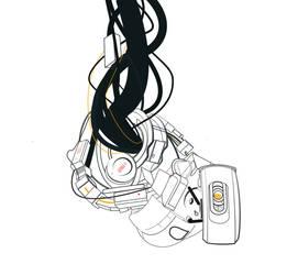 GLaDOS line art