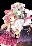 Render - Hakurei Reimu + Kochiya Sanae