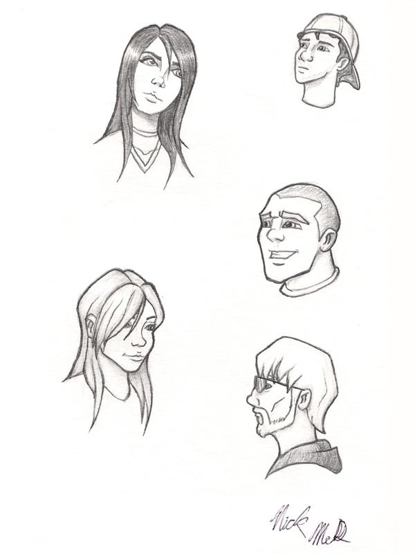 Cartoon Heads by Nick-McD
