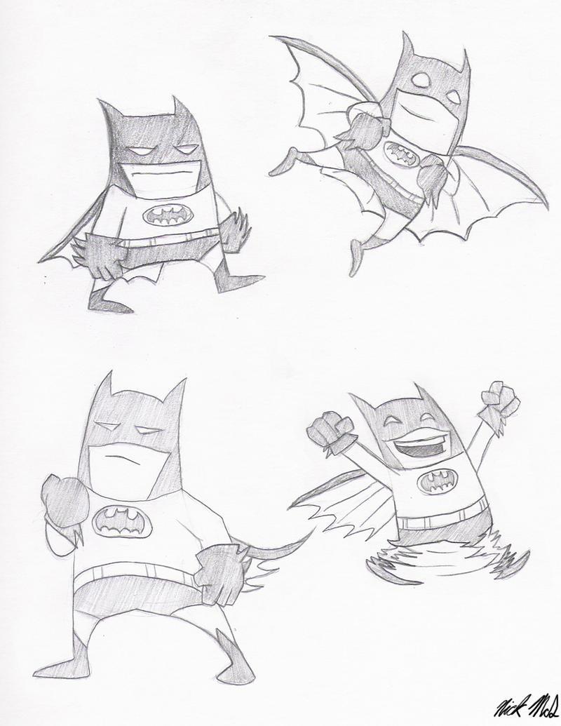 Cartoon Batman by Nick-McD