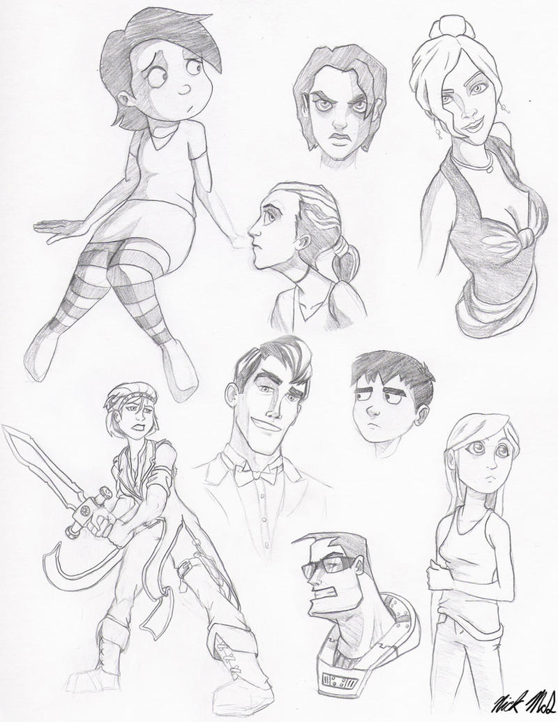 character sketches by Nick-McD