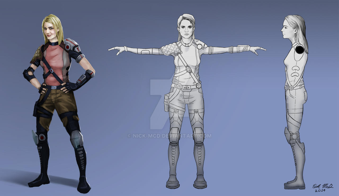 Sci-fi Woman Character Concept by Nick-McD