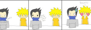 sasuke + naruto discover yaoi