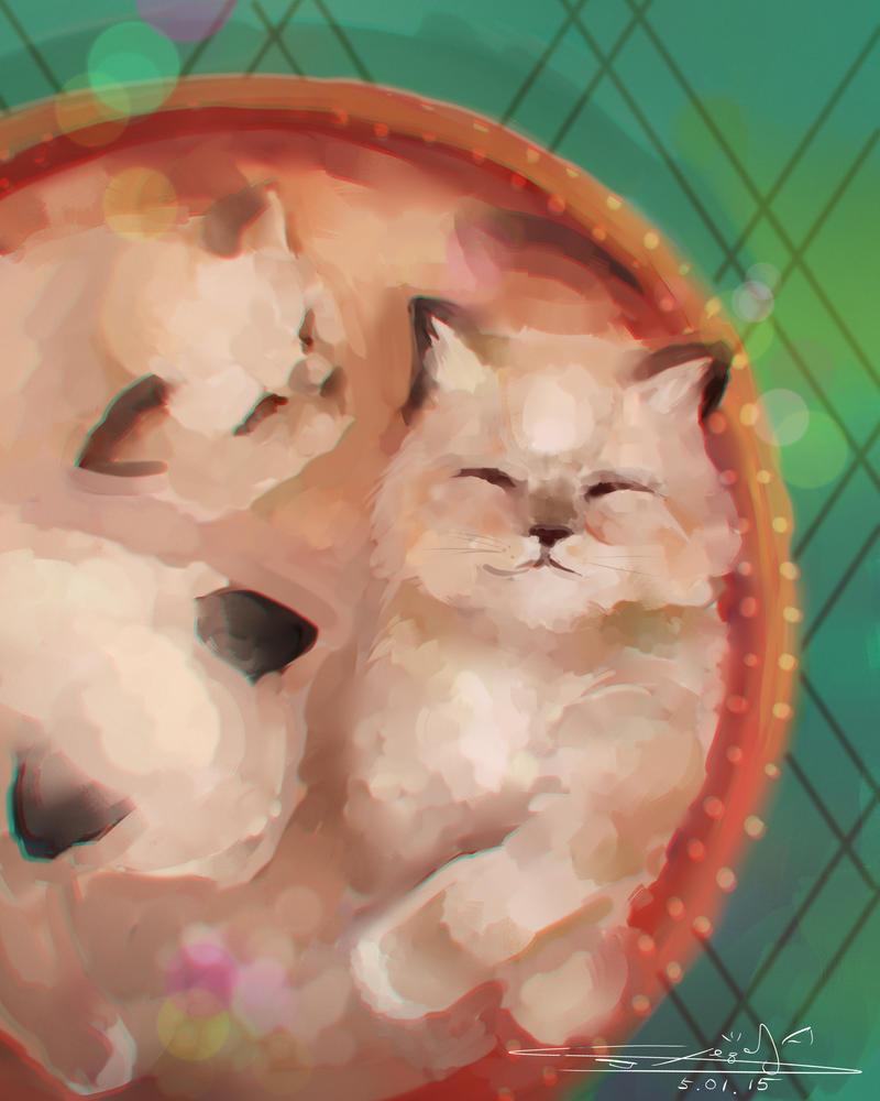 Kittens by Cheza-Kun