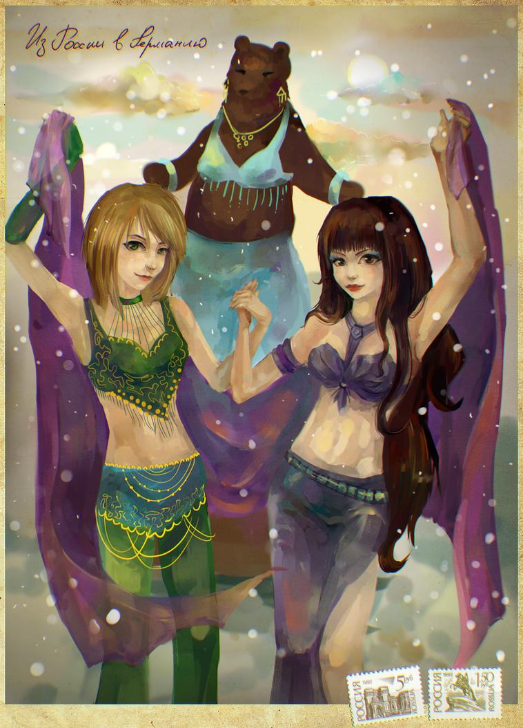 Art trade Belly dance by Cheza-Kun