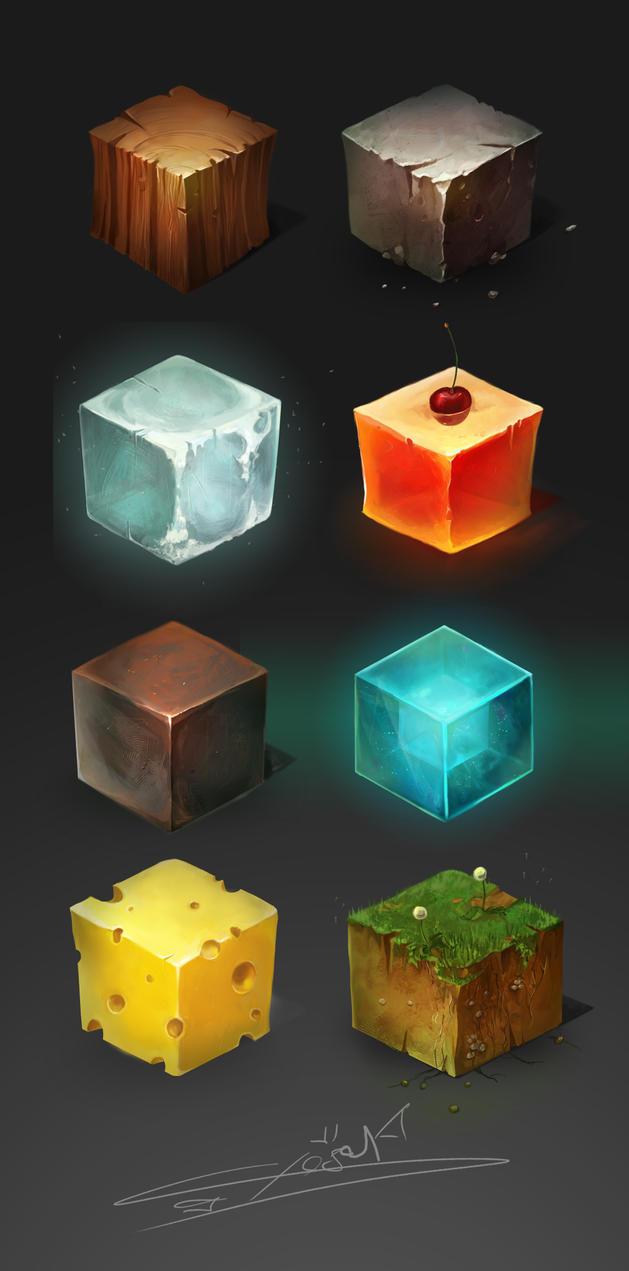 Materials cube by Cheza-Kun