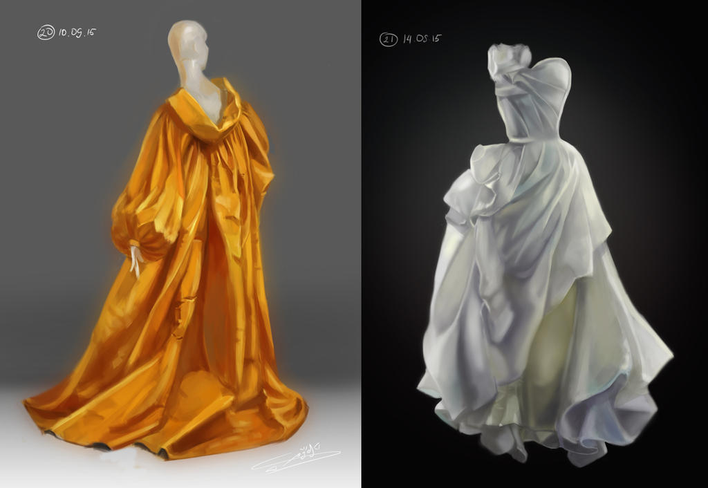 Folds study by Cheza-Kun