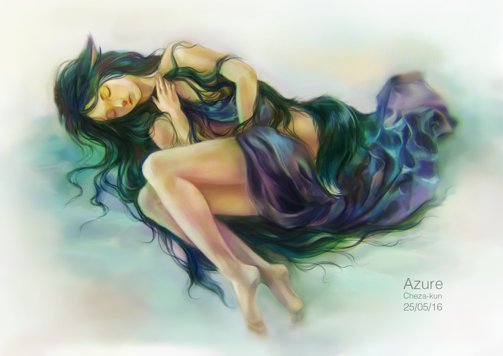 Sleeping Azure by Cheza-Kun