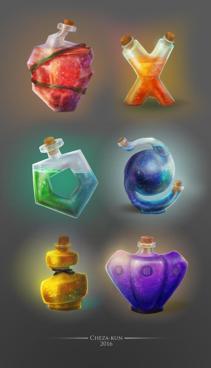 Potion set by Cheza-Kun
