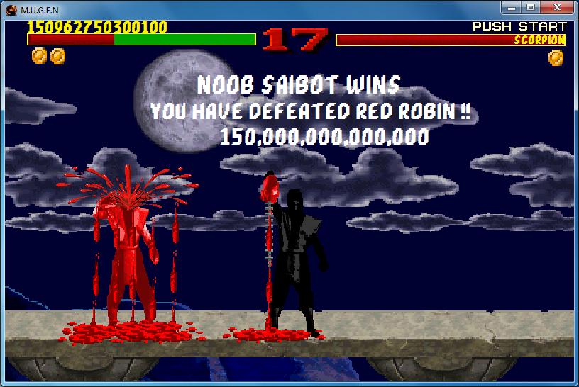 Mortal kombat 1 noob saibot vs red robin (FAKE) by