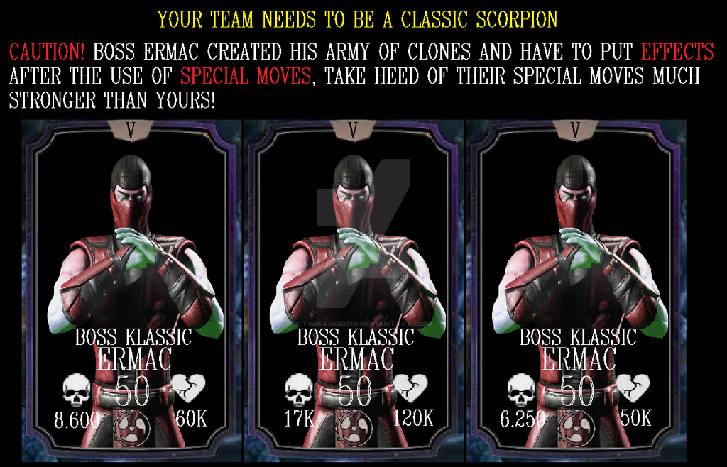 Mortal kombat x mobile test klassic ermac (fake) by timka5530219 on