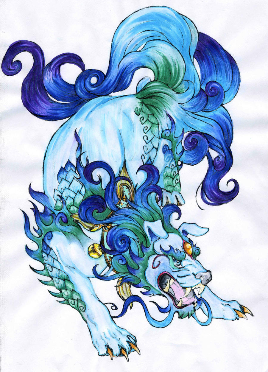 Water Foo dog by zagchan
