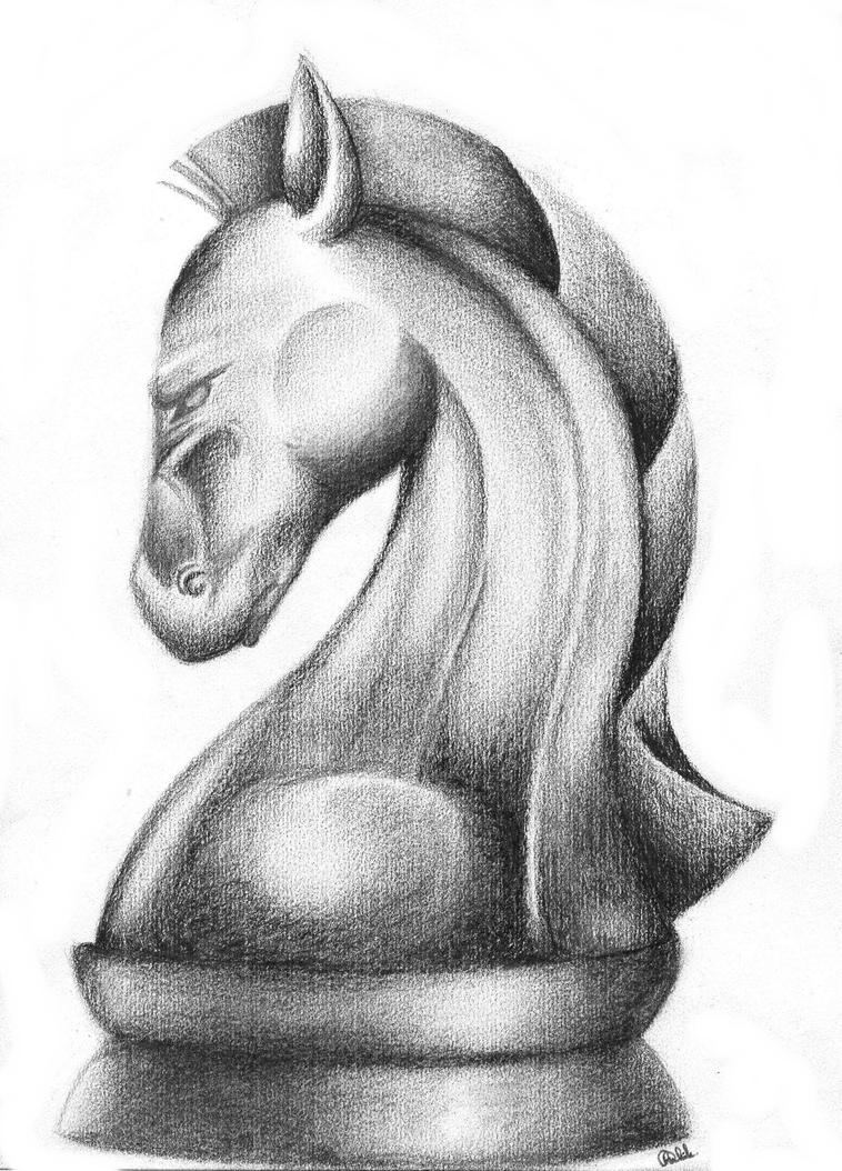Y Horse Is Amazing Chess horse drawing by...