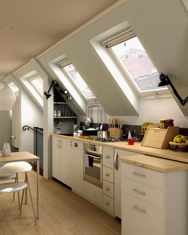 Kitchen Designs For Apartments: Attic Apartment On Pinterest