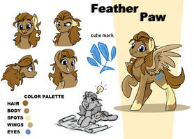 Reference art - Feather Paw by Rutkotka