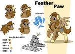 Reference art - Feather Paw