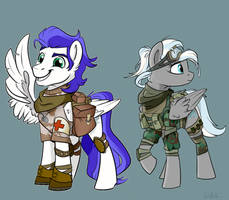YCH: Combat ponies [commission] by Rutkotka