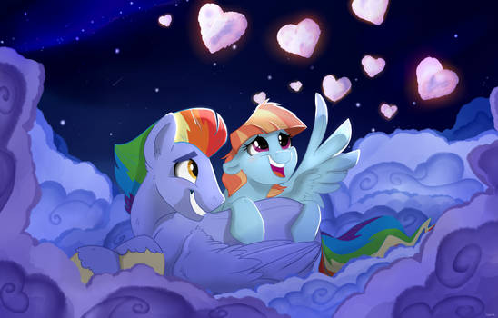 Hearts and Hooves Day : Cuddle clouds