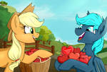 Charity YCH FIN 'Applejack Hearted apples'