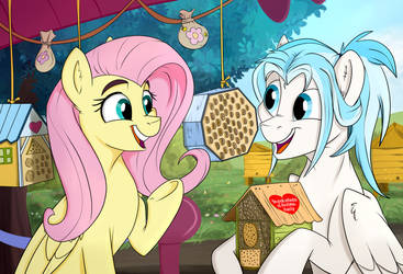 Charity YCH FIN 'Fluttershy Bee houses'