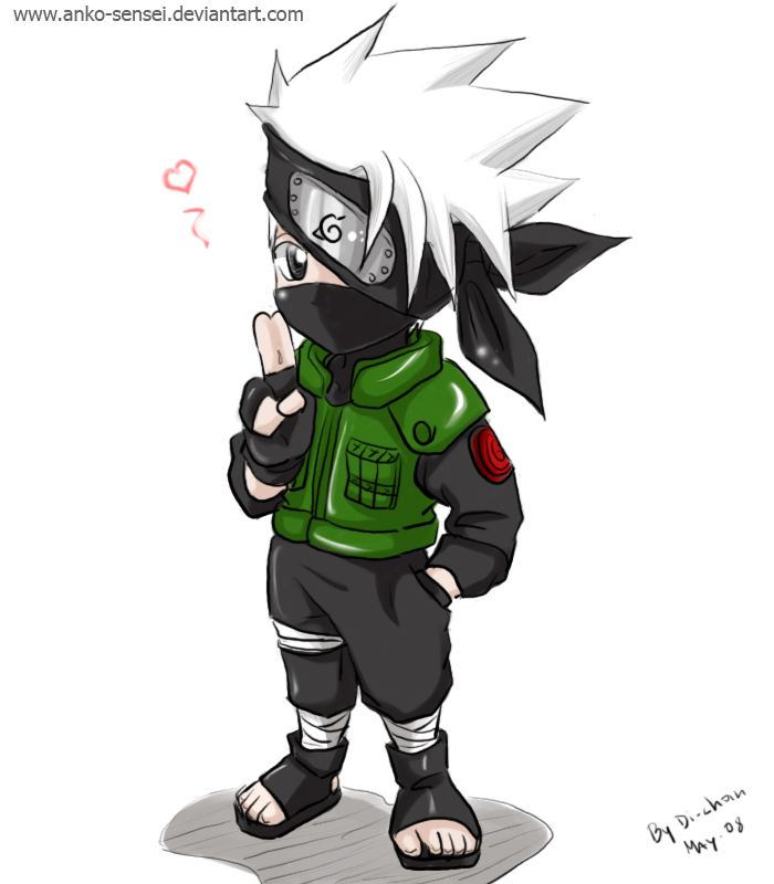 Chibi Kakashi_colored by Anko-sensei on DeviantArt