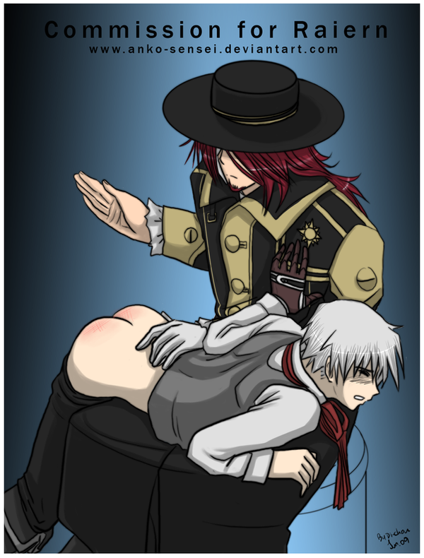 Cross spank Allen_Commission by Anko-sensei