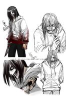 Jeff The Killer_Doodles by Anko-sensei